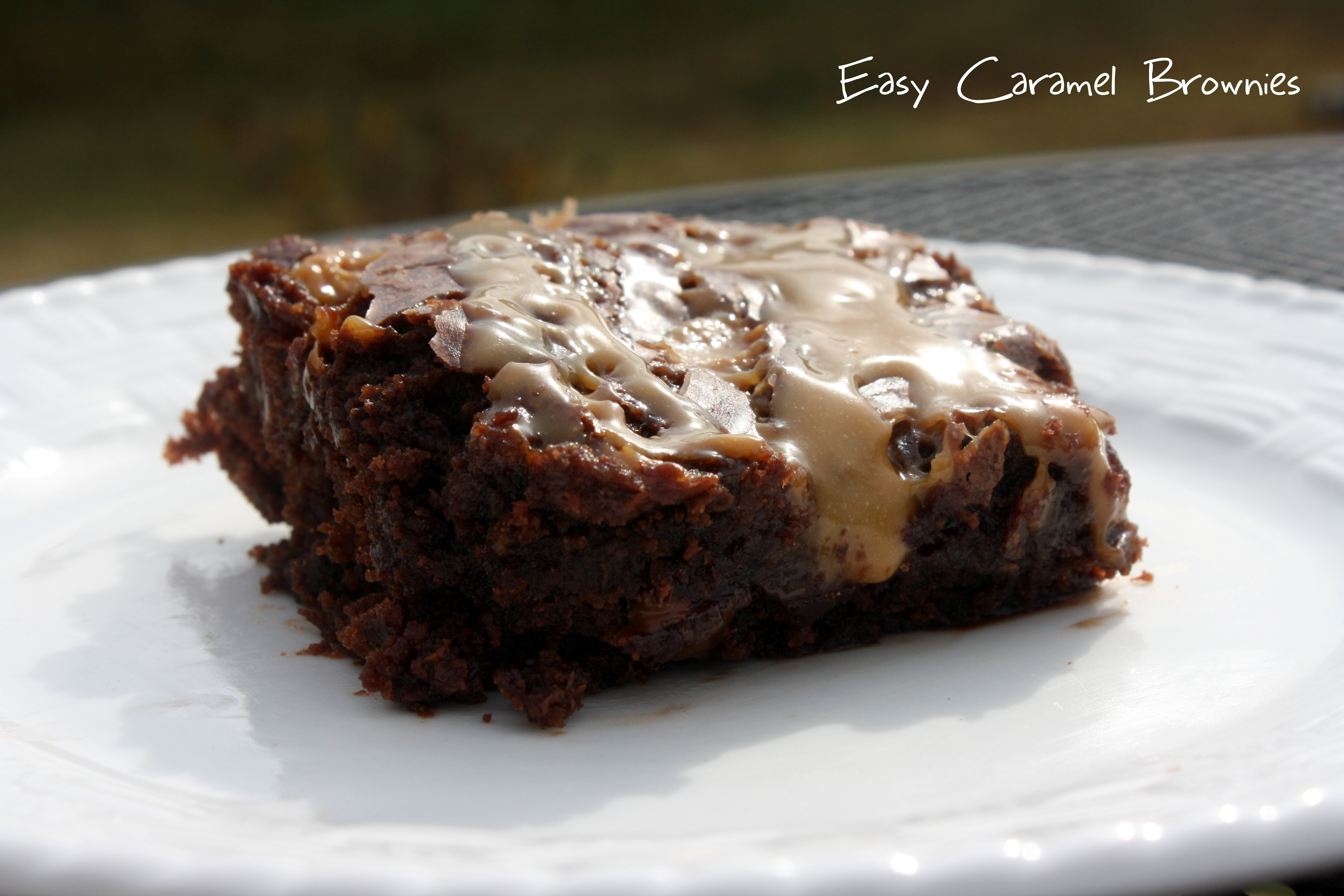 Easy Caramel Brownies   Come Sit in My Kitchen