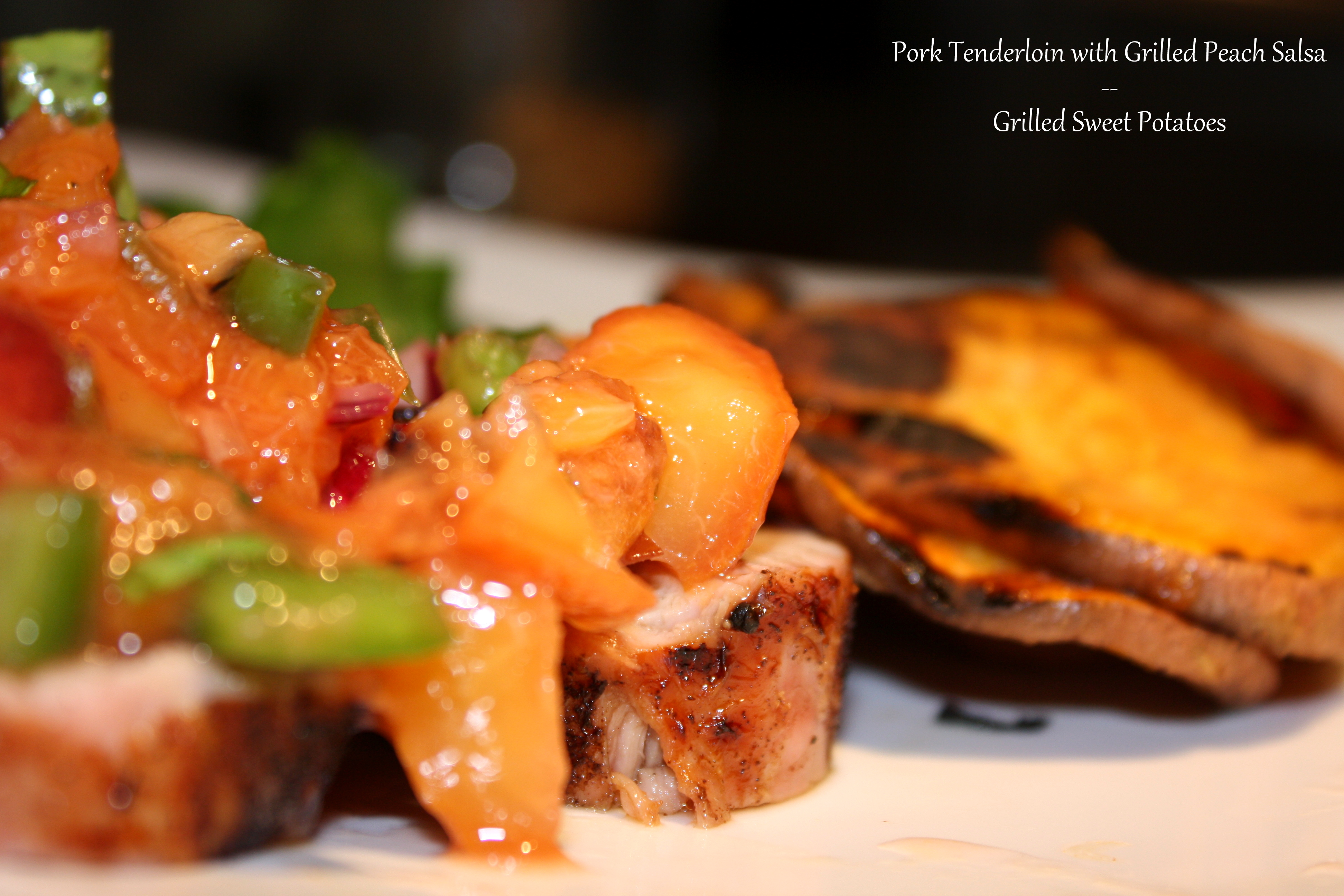 Grilled: Grilled Pork Tenderloin with Grilled Peach Salsa & Grilled ...