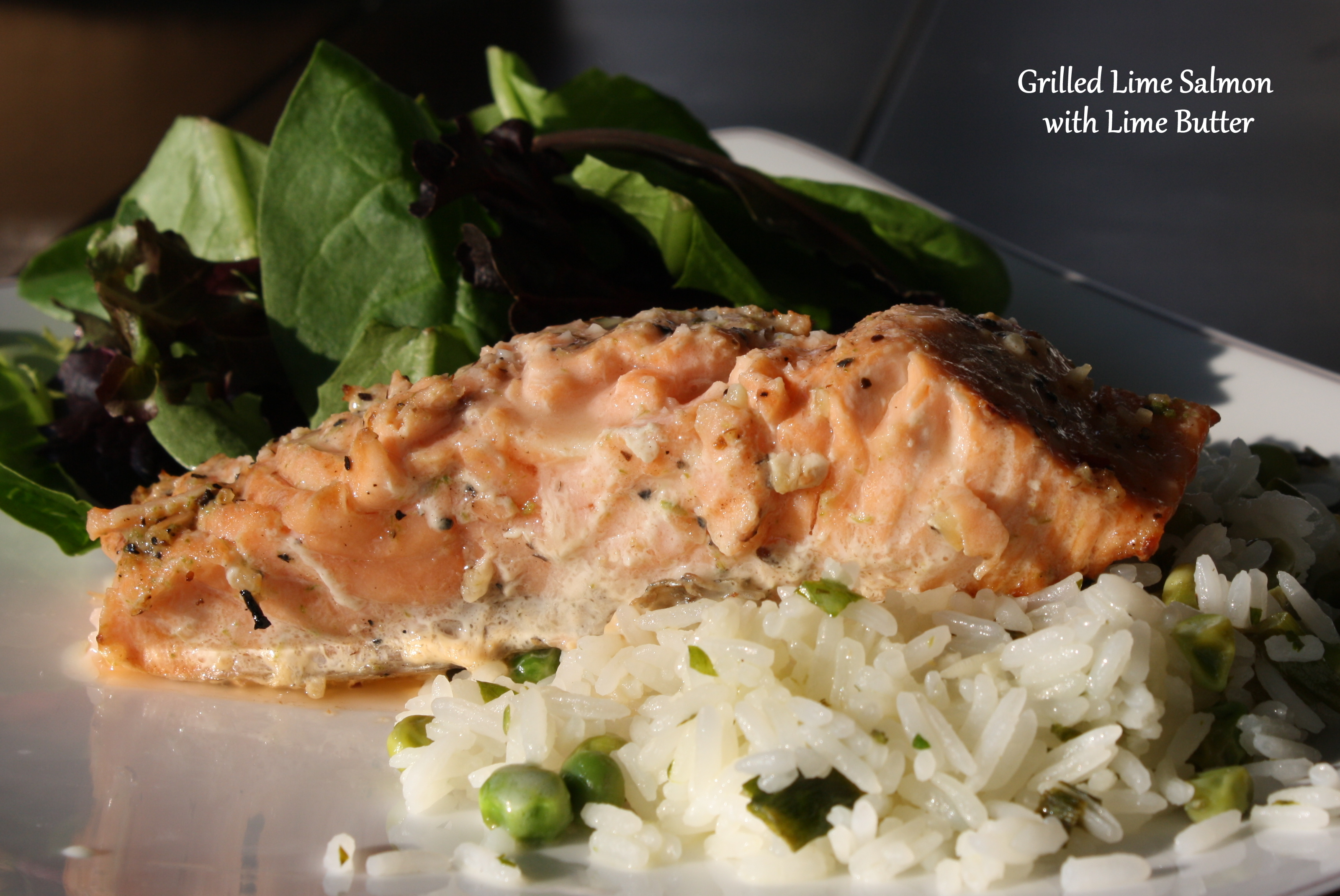 Grilled Salmon with Lime Butter Sauce | Come Sit in My Kitchen