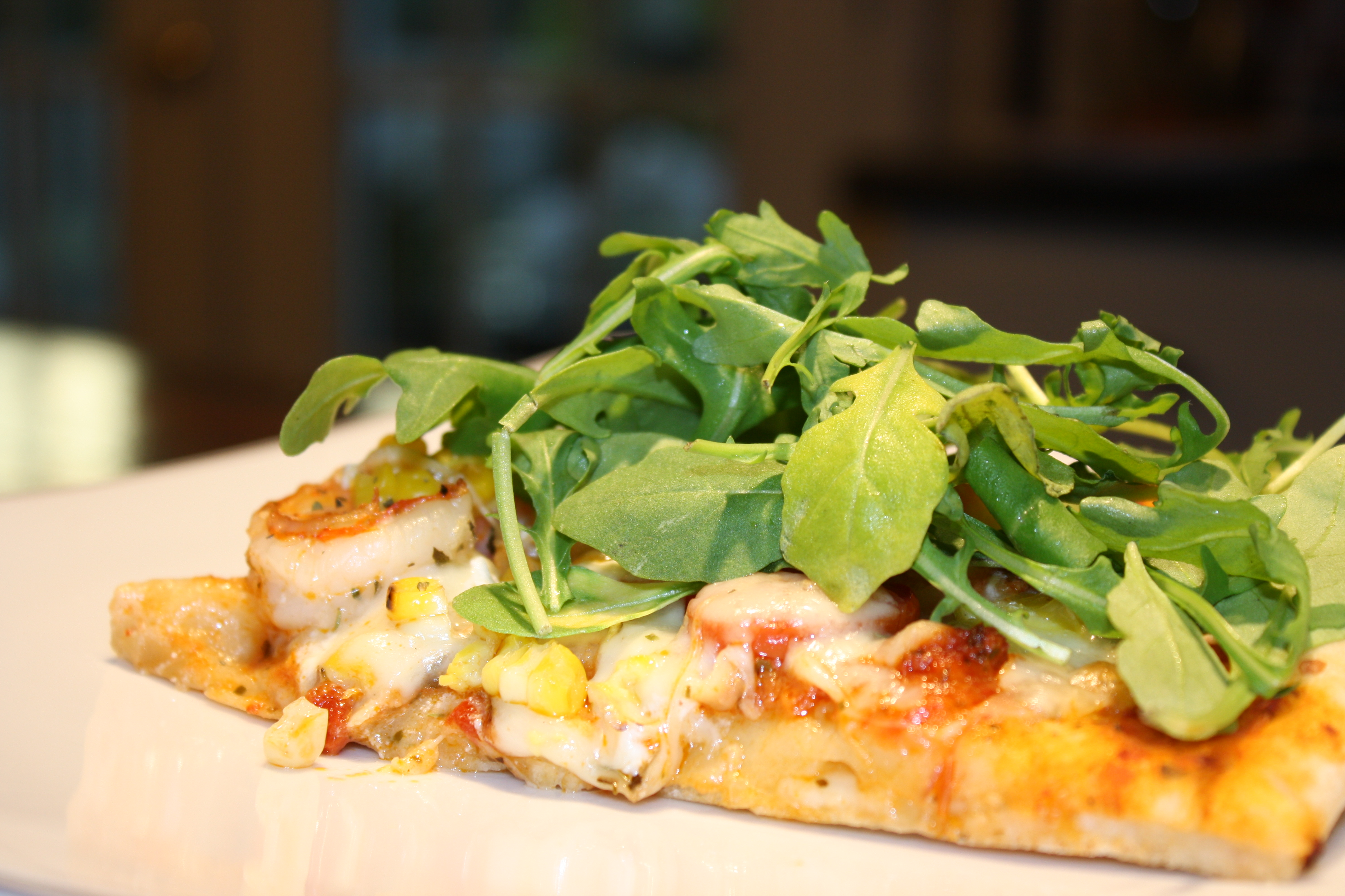 Shrimp, Arugula & Goat Cheese Pizza | Come Sit in My Kitchen